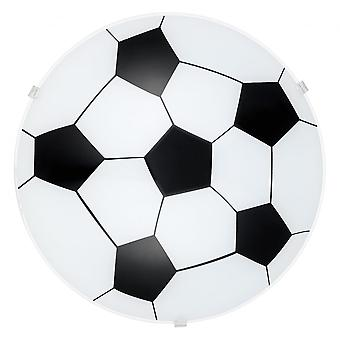 Eglo Boys Room Football Glass Ceiling Light