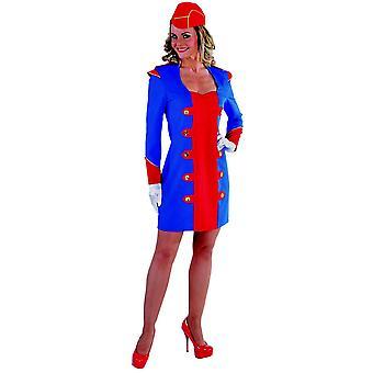 Kvinder kostumer kvinder stewardesse kjole deluxe