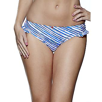 Audelle Seaside Fever Blue and White Bikini Pant 147270