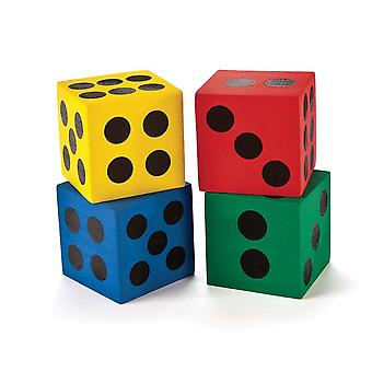 12 Jumbo 6cm Foam Dice for Party Games | Birthday Loot Bag Filler Favours