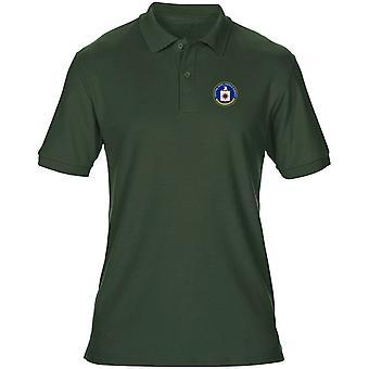 Agenzia degli Stati Uniti CIA Spy ricamato Logo - Mens Polo Shirt