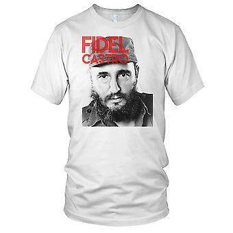 Fidel Castro Cuban Revelutionary Communist Ladies T Shirt