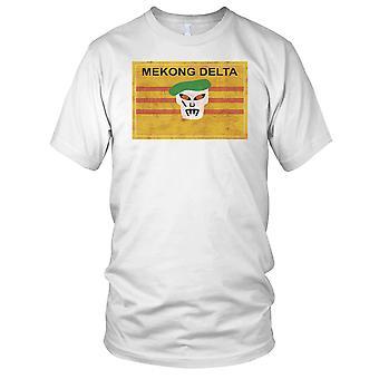 Mekong Delta zielony Beret sił specjalnych - wojna w Wietnamie Grunge efekt dzieci T Shirt