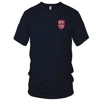 Ejército de Estados Unidos - 1256th aviación compañía médica ambulancia aérea bordado parche - para hombre T Shirt