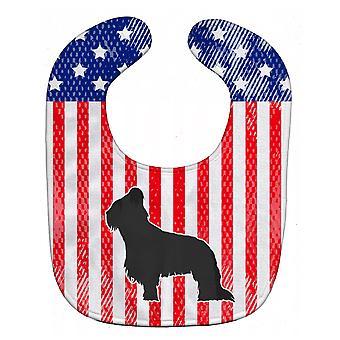 Carolines Treasures  BB3326BIB USA Patriotic Briard Baby Bib