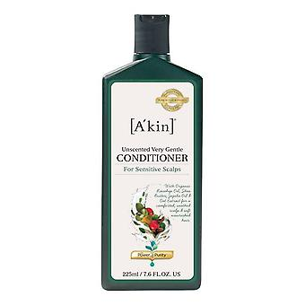 A'kin Unscented Very Gentle Conditioner for Sensitive Scalps 225ml