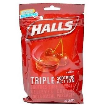 Halls Menthol Oral Anesthetic Drops Cherry