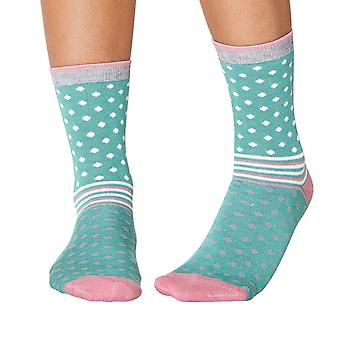 Jarrell women's super-soft bamboo crew socks, field green | By Thought