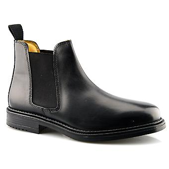Mens Leather Roamers Flexible Fuller Fit Chelsea Dealer Ankle Boots Shoes