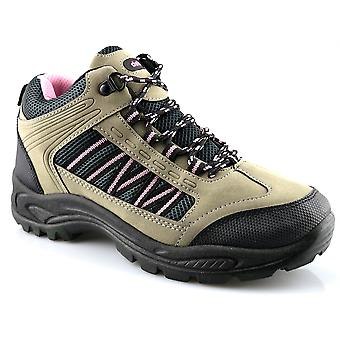 Ladies Womens Walking Hiking Trail Lace Up Hiker Ankle Boots Shoes