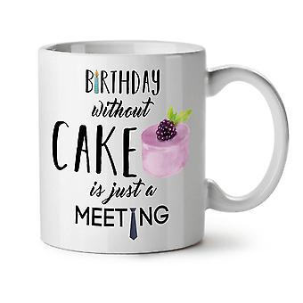 Lustige neue Weißer Tee Party Kuchen Kaffee Keramik Becher 11 oz | Wellcoda