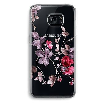 Samsung Galaxy S7 Transparent Grenzfall (Soft) - schöne Blumen