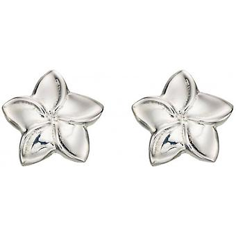 Beginnings Plumeria Stud Earrings - Silver