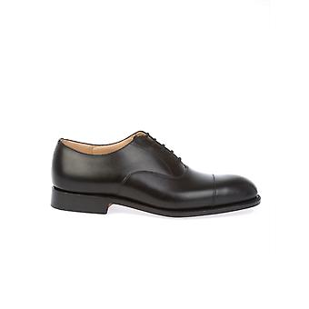 Church's men's CONSULCALFBLACK black leather lace-up shoes