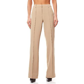 Bruno banani Bootcut trousers ladies creases beige