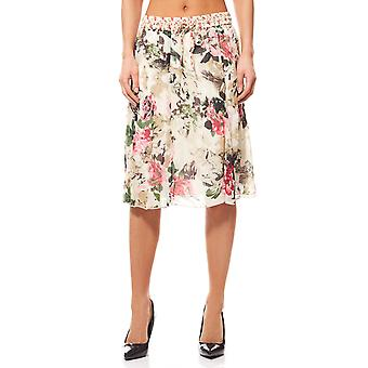 BOYSEN BB´s knee-length floral skirt ladies beige
