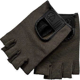 Fitness Handschuhe Leder Khaki XL