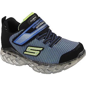 Skechers Boys Flex-Charge Ronix USB Light Up High Vis Trainers Shoes