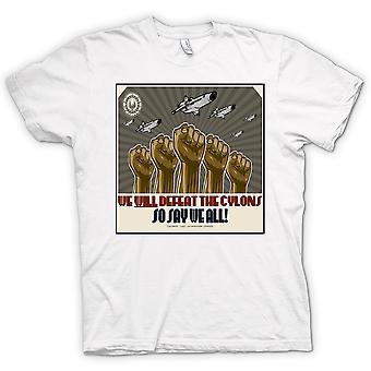 Mens T-shirt-Battlestar Gallactica Niederlage Cyclons