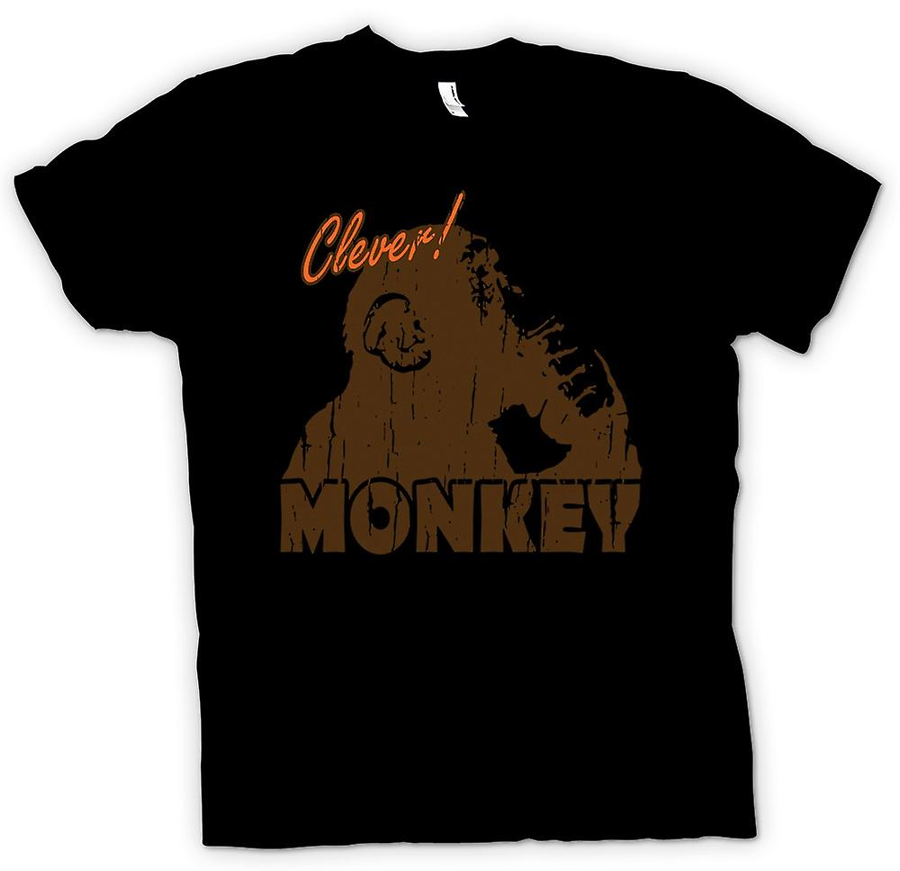 Mens T-shirt - Clever Monkey - The Thinker - Funny