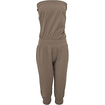 Urban classics ladies Capri jumpsuit strapless