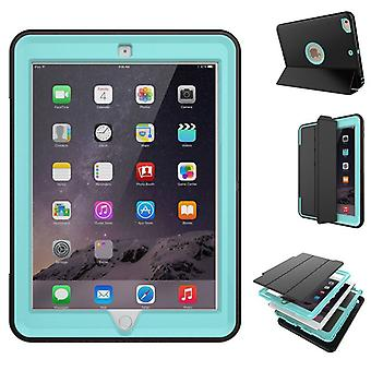Multi-part hybrid outdoor protective cover case light blue for new Apple iPad 9.7 2017 Pocket wake UP 3folt