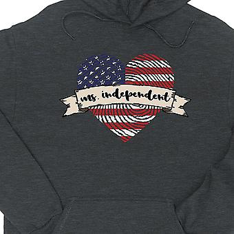 Ms Independent Hoodie Pullover Unisex Dark Grey Cute Gift For Her