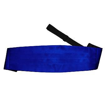 Royal Blue Plain Satin Kummerbund