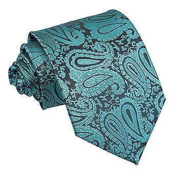 Cravate classique Paisley Teal