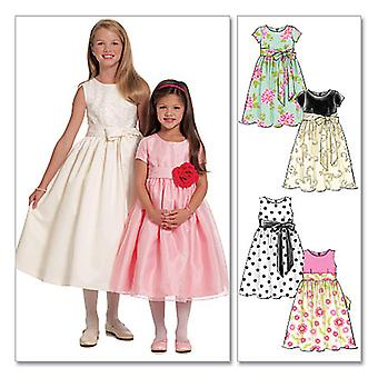 Children's/Girls' Lined Dresses and Sash-CHJ (7-8-10-12-14) -*SEWING PATTERN*