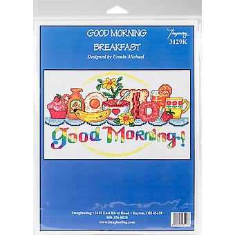 Good Morning Breakfast Counted Cross Stitch Kit-10.5