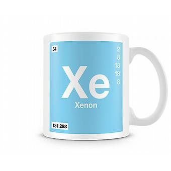 Element Symbol 054 Xe - Xenon Printed Mug