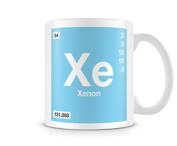Element Symbol 054 Xe - Xenon Printed Tasse