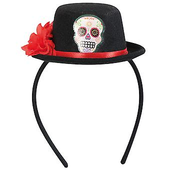 Headband with mini Hat del la of muertes day of the dead day of the dead accessory