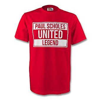 Paul Scholes Man Utd legenden Tee (rød)