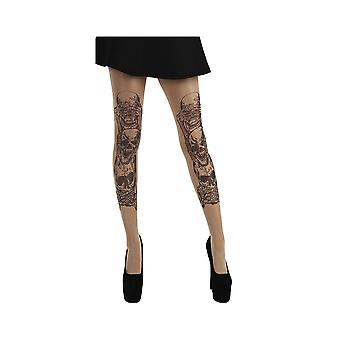 Pamela Mann See, Hear, Speak No Evil Tattoo Tights