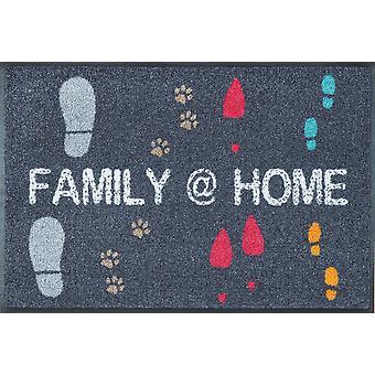 Famiglia @ piano lavabile casa 50 x 75 cm opaco wash + a secco
