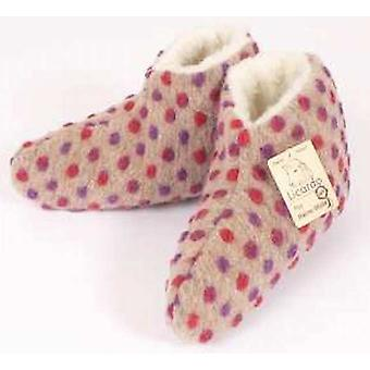 Bed shoes wool nubs beige 36/37