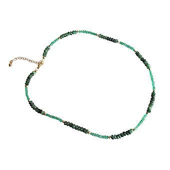 Szmaragdów szmaragdowy naszyjnik Emerald pozłacany naszyjnik