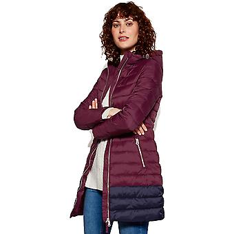 Joules Womens Heathcote Mid Length Hooded Lined Puffa Coat