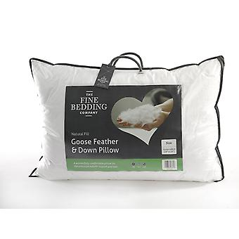 The Fine Bedding Company Goose Feather & Down Pillow Medium Support