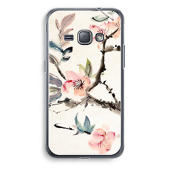 Samsung Galaxy J1 (2016) Transparent Case (Soft) - Japenese flowers