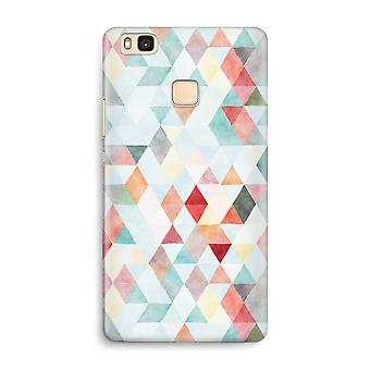 Huawei P9 Lite Full Print Case - Coloured triangles pastel