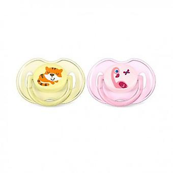 Avent Classic Soothers 0 to 6 Months 2 uds