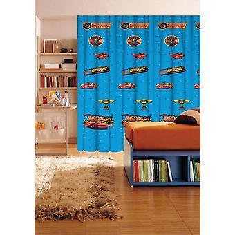 Disney Cars blå genomskinlig Voile fönster gardin