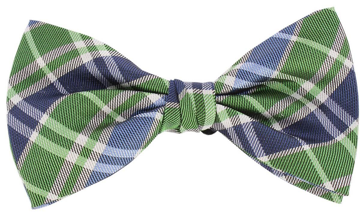 Knightsbridge cravates Checked Silk Bow cravate - vert bleu