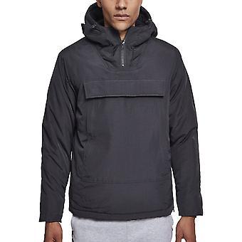 Stedelijke klassiekers - hoge hals trek over winter jas zwart