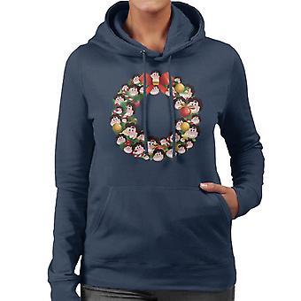 Christmas Wreath Multi Steven Universe Women's Hooded Sweatshirt