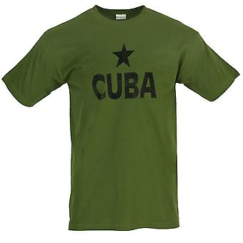 New Printed T-Shirt Cuba Print Black Star