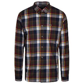 Lacoste Lacoste säännöllisesti sopiva Pitkähihaiset ruudullinen paita